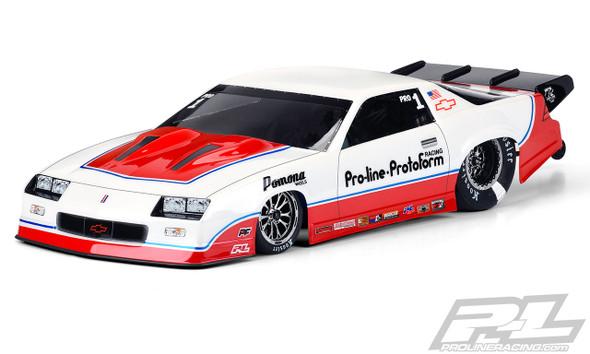 Pro-Line 3564-00 1985 Chevrolet Camaro IROC-Z Clear Body : Slash 2wd Drag Car & AE DR10
