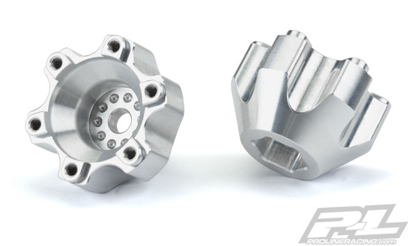 """Pro-Line 6337-01 6x30 to 12mm Aluminum Hex Adapters Wide (2) : 6x30 2.8"""" Wheels"""