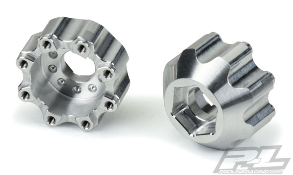 """Pro-Line 6353-00 8x32 to 17mm 1/2"""" Offset Alum Hex Adapters : 8x32 3.8"""" Wheels"""