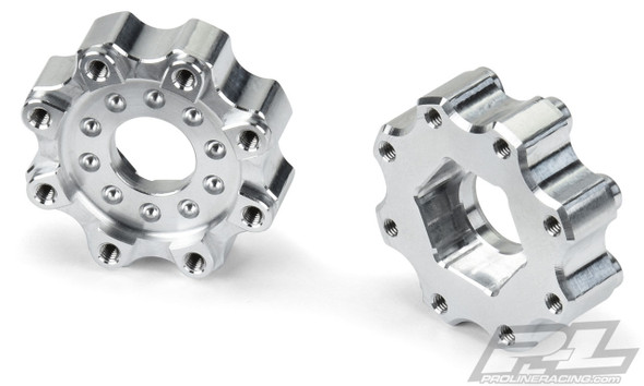 "Pro-Line 6356-00 8x32 to 17mm ZERO Offset Alum Hex Adapters : 8x32 3.8"" Wheels"