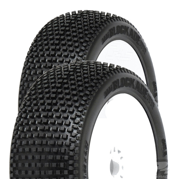 Pro-Line 9039-233 Blockade S3 Soft Off-Road 1:8 Buggy Tires / White Wheels (2)