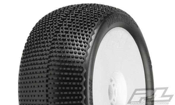 """Pro-Line 9063-233 Buck Shot 4.0"""" S3 Soft Off-Road 1:8 Truck Tires Mounted White Wheels (2)"""