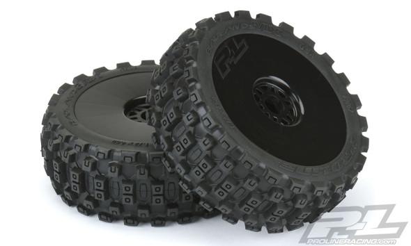 Pro-Line 9067-41 Badlands MX M2 Medium 1:8 Buggy Tires Mounted w/ Blk Wheels