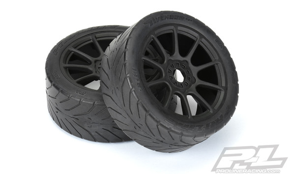 Pro-Line 9069-21 Avenger HP S3 Soft Street BELTED 1:8 Buggy Tires w/ Blk Whls : F/R