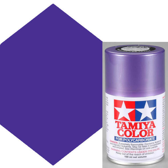Tamiya Polycarbonate PS-51 Purple Anodized Aluminum Spray Paint 86051