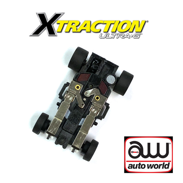 Auto World Xtraction Ultra G Complete Chassis 1pk : 1:64 / HO Scale Slot Car