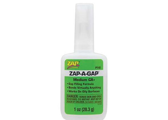 Pacer Zap Adhesives Zap-A-Gap CA+ Glue Medium 1 oz PT02