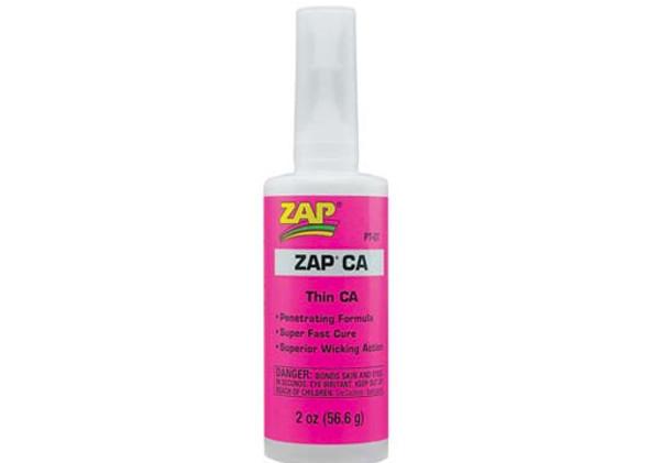 Pacer Zap Adhesives Zap CA Glue 2 oz Thin PT07