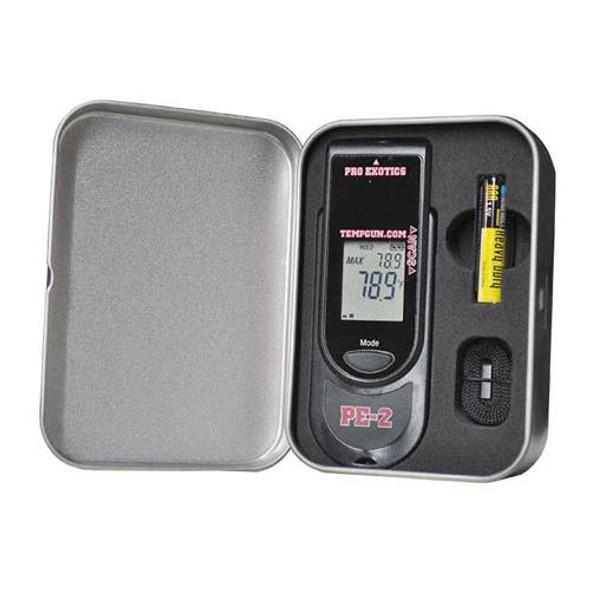 Pro Exotics PXTPE2M PE2 Infrared Thermometer Temp Gun w/ Metal Case
