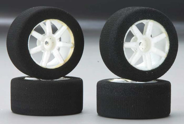 BSR Racing R4004 Front/Rear Foam Tires/Wheels Performance Pack RC18R (4)