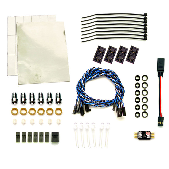 RC Lights Dual Head & Electronic Brake Led Lights (5mm, 14) : 1:12 to 1:8 Trucks