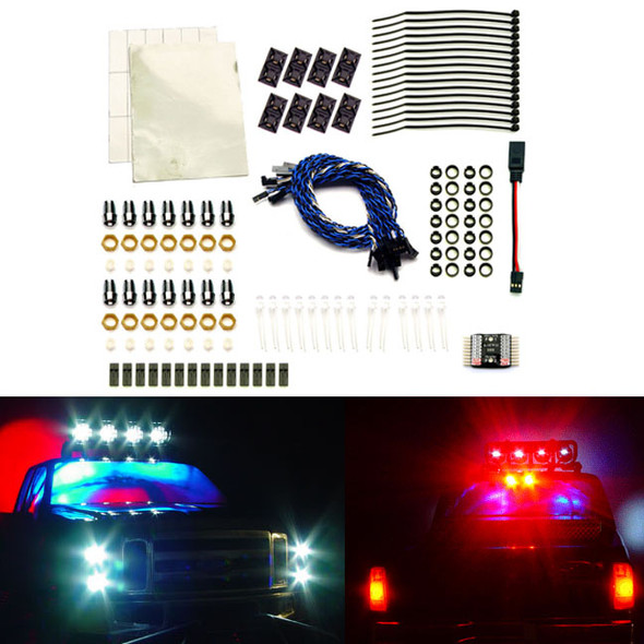 """RC Lights Switching Head & Electronic Brake LED Lights, 5mm, 14"""" : 1:12 to 1:8"""
