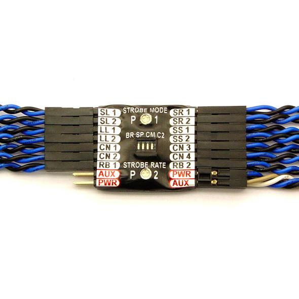 "RC Lights Nightfly2, 14 LED Warbird Navigation System, 5mm, 14""/24"" : Airplane"