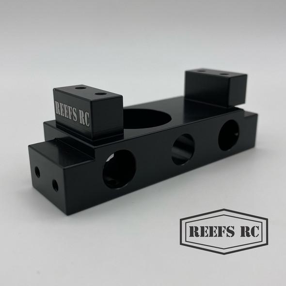 Reef's RC REEFS56 Aluminum Winch / Bumper Mount Black : Redcat Gen8