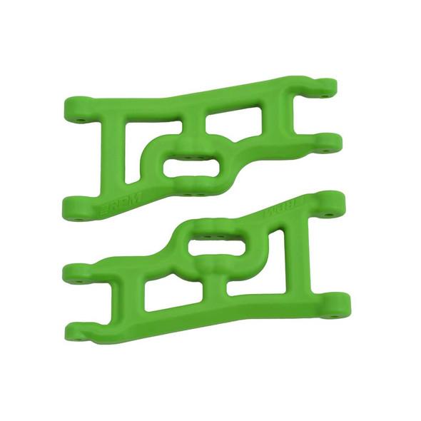 RPM 70554 Offset Compensating Front A-Arms (Green) for Slash 2wd / Nitro Slash