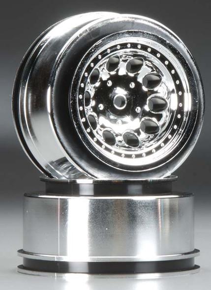 RPM 8232 Revolver Front Wheels / Rims Chrome For Traxxas 2WD Nitro Slash