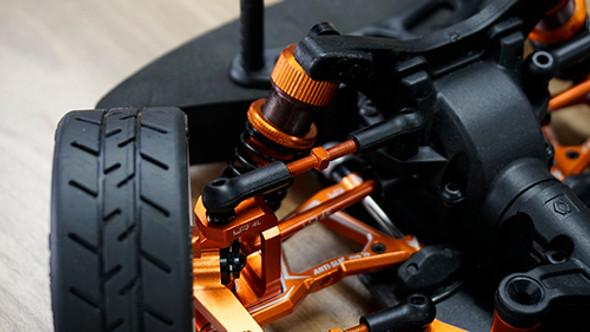 Yeah Racing 7075 Aluminum Tie Rod Set Orange : HPI RS4 Sport 3