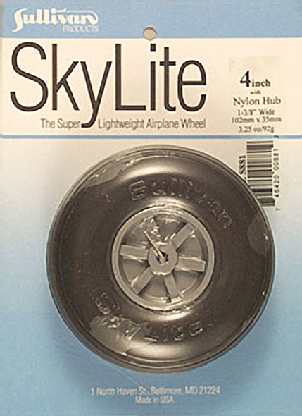 "Sullivan S881 SkyLite Wheel 4"" (1) Airplane"