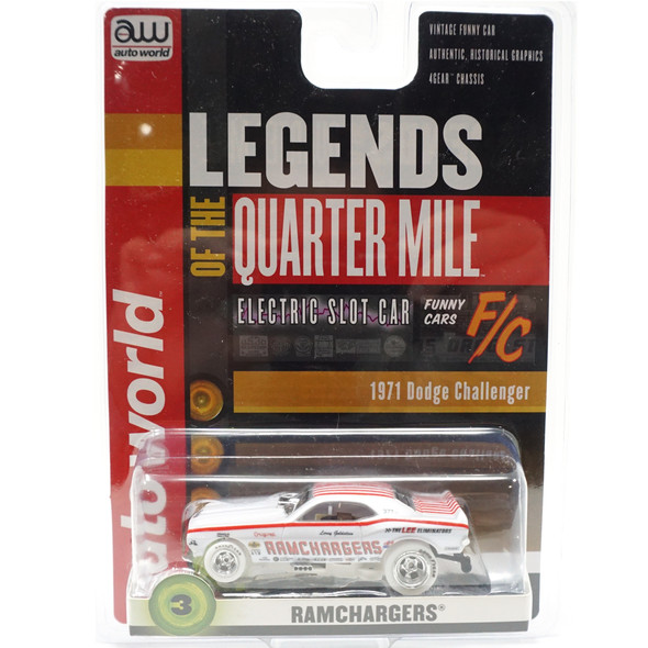 Auto World 4Gear R25 Ramchargers 1970 Dodge Challenger Funny Car iWheels HO Slot Car