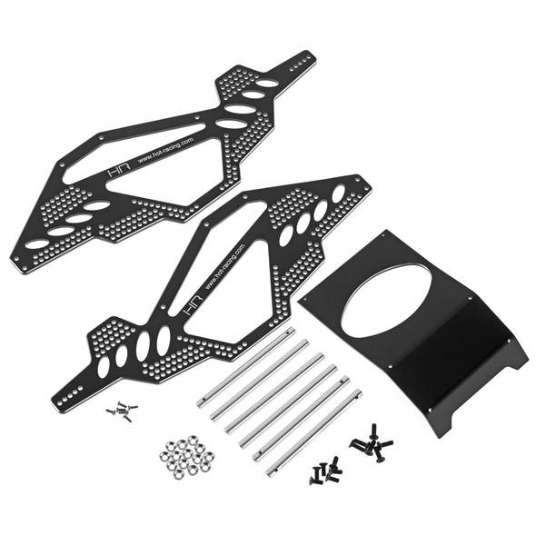 Hot Racing Alum Rock Racer Conversion Chassis Black : Axial AX-10 Vehicles