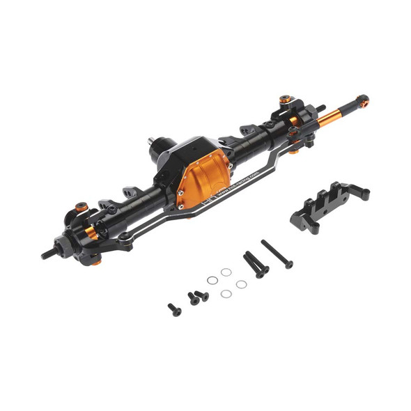 Hot Racing SCX12XF03 Aluminum Front Axle Assembly w/ Steering Components SCX10