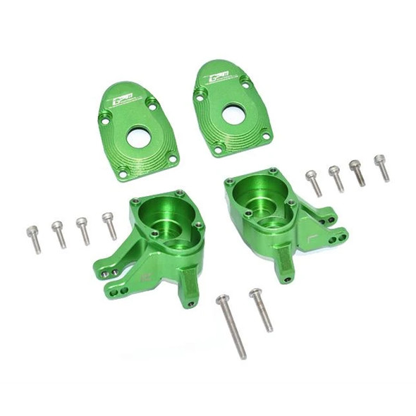 GPM Aluminum Front Knuckle Arms - Green : Axial SCX10 III / Capra 1.9 UTB