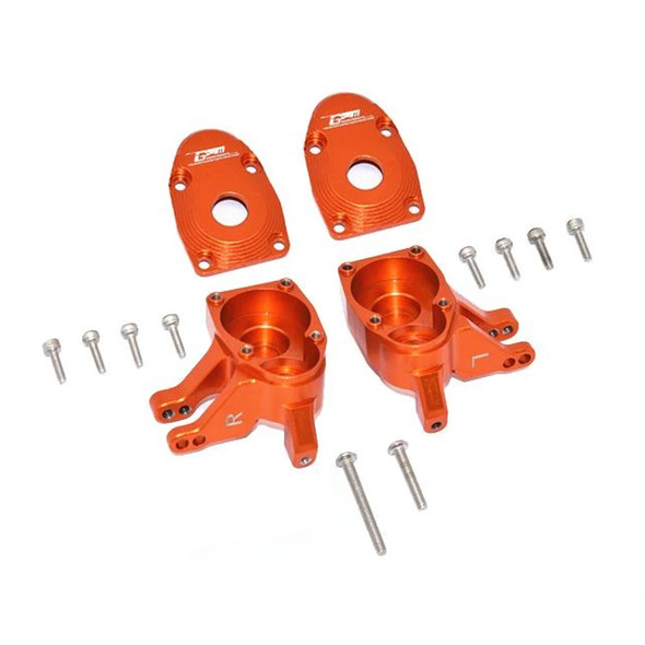 GPM Aluminum Front Knuckle Arms - Orange : Axial SCX10 III / Capra 1.9 UTB