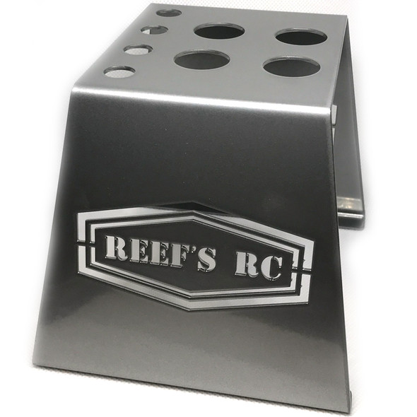 Reef's RC SEHREEFS39 Hardened Steel Car Stand Gray w/ Shock Holes