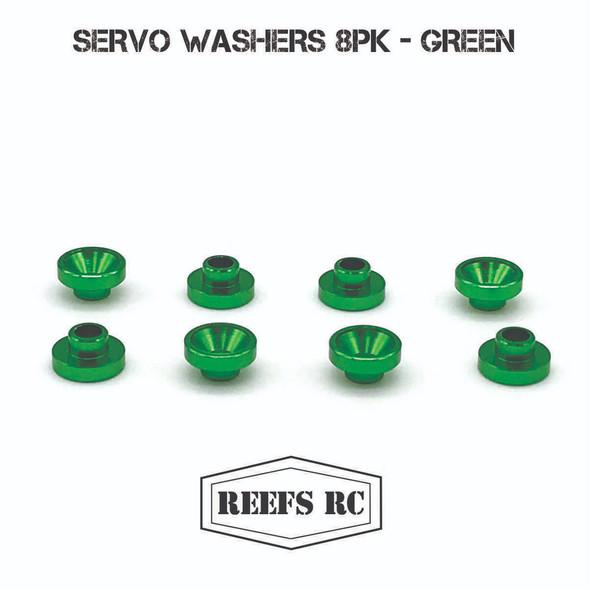 Reef's RC SEHREEFS49 Servo Washers (8Pcs) Green