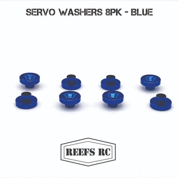 Reef's RC SEHREEFS52 Servo Washers (8Pcs) Blue