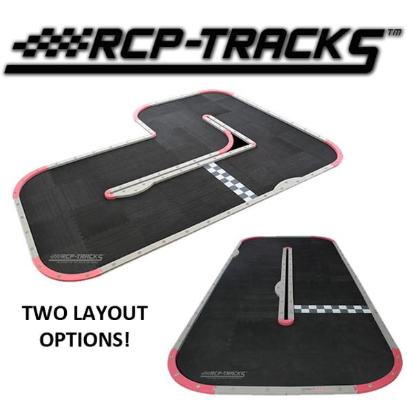 "RCP-TRACKS Wide L Oblong Track Kit Two Layout 12'4"" x 9'8"" / 12' x 6'5"" : Mini-Z"