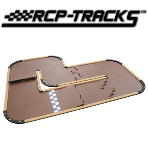 "RCP-TRACKS Wide L Oblong Track Kit Two Layout Off-Road 12'4"" x 9'8"" / 12' x 6'5"" : Mini-Z"