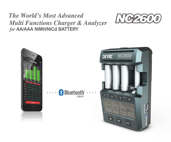 SKY RC NC2600 Multi Functions Charger & Analyzer : AA / AAA NiMH / NiCd Battery