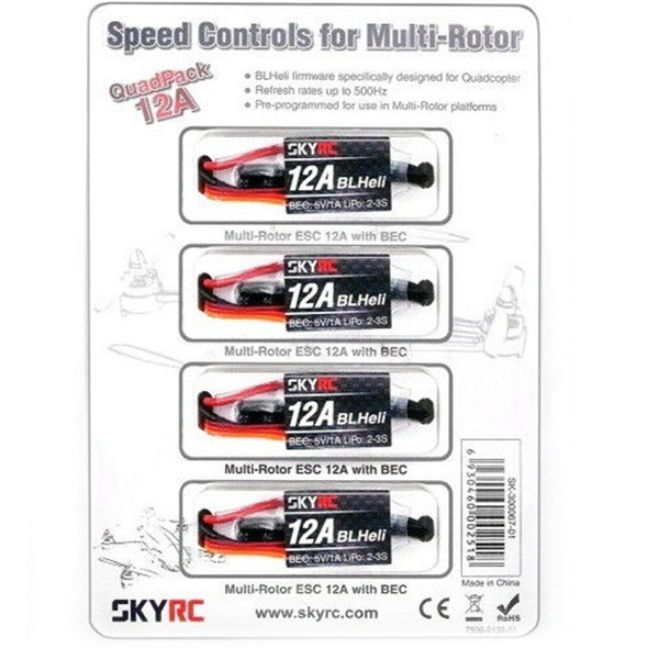 SKY RC SK-300067-01 12A Speed Controls for Multi-Rotor with BEC (4)