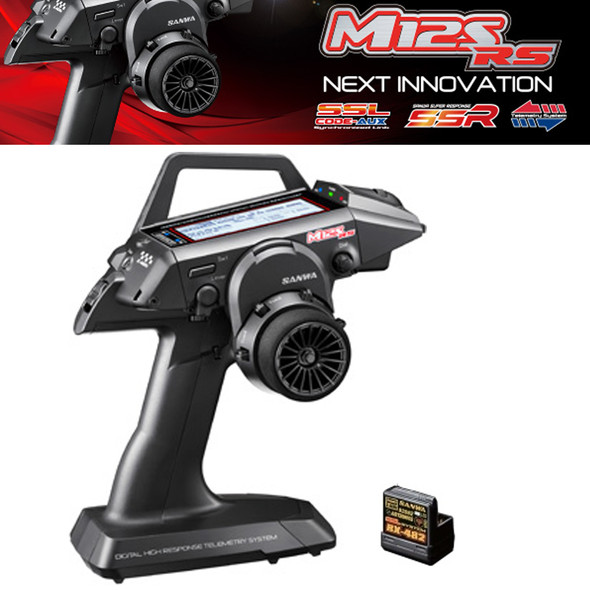 Sanwa Airtronics M12S-RS 4-Channel 2.4GHz Radio Transmitter w/ RX-482 Receiver