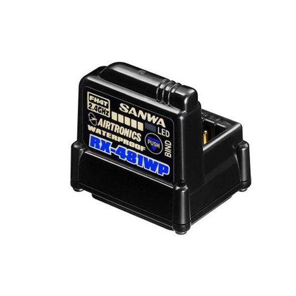 Sanwa Airtronics RX-481WP 4-Ch 2.4GHz 3.7V~7.4V WP Receiver w/ built-in Antenna