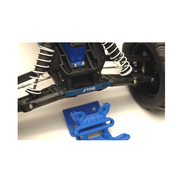 STRC Aluminum Front Hinge-Pin Brace Kit : Stampede/Ruster/Bandit/Slash 2wd Blue