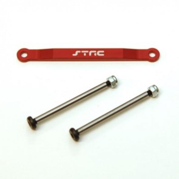 STRC Alum Front Hinge-Pin Brace Kit : Stampede/Ruster/Bandit/Slash 2wd Red