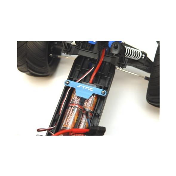 STRC ST3627XB Aluminum Batter Hold-Down Plate : Traxxas Stampede / Bigfoot Blue