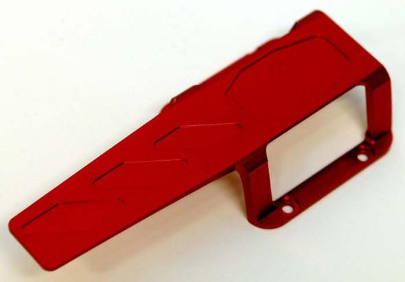 STRC ST5316R Machined Aluminum Transmission/Center Skid Plate Red E-Revo 3.3/ Slayer
