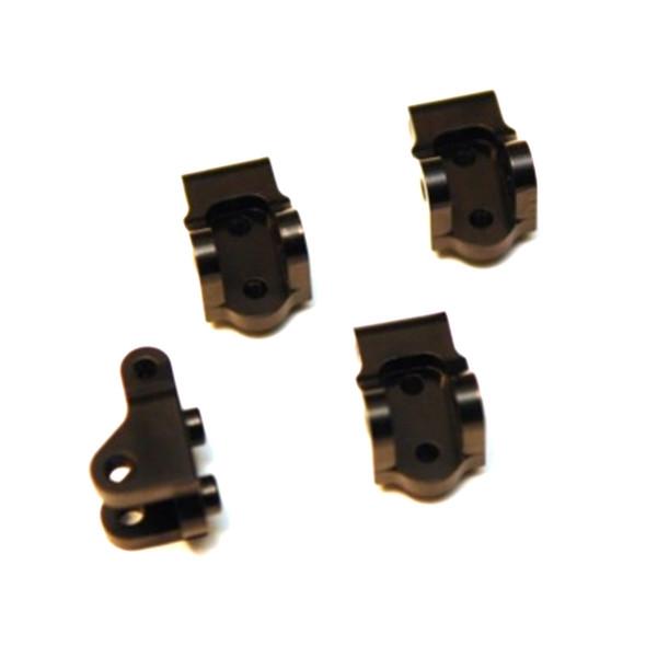 STRC Machined Brass Lower Shock/Lower Link Mount Black (4) : Element Enduro