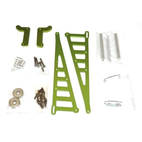STRC STC71071G Aluminum Wheelie Bar Kit Green : Associated DR10