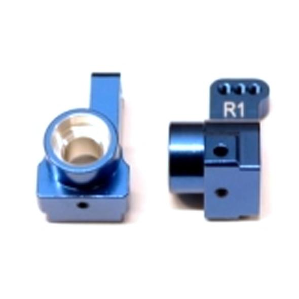 STRC Aluminum Rear Hub Carriers 1 deg. Toe-in (1 pair) Blue : Associated DR10