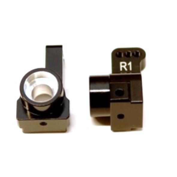 STRC Aluminum Rear Hub Carriers 1 deg. Toe-in (1 pair) Black : Associated DR10