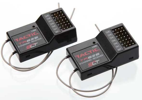 Tactic TR625 6-Channel SLT 2.4GHz Twin Antennas Receivers Two Pack