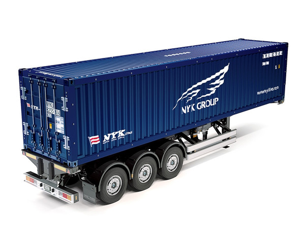 Tamiya 56330 1:14 RC 40ft. 3-Axle NYK GROUP On-Road Container Trailer Kit