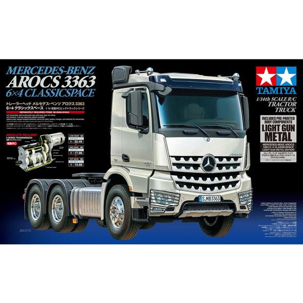 Tamiya 56359 1/14 Mercedes-Benz Arocs 3363 6x4 On-Road 3-Axle Tractor Truck Kit