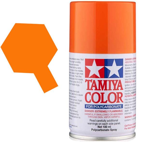 Tamiya PS-62 Pure Orange Polycarbonate Spray Paint Lacquer 3oz (100ml)