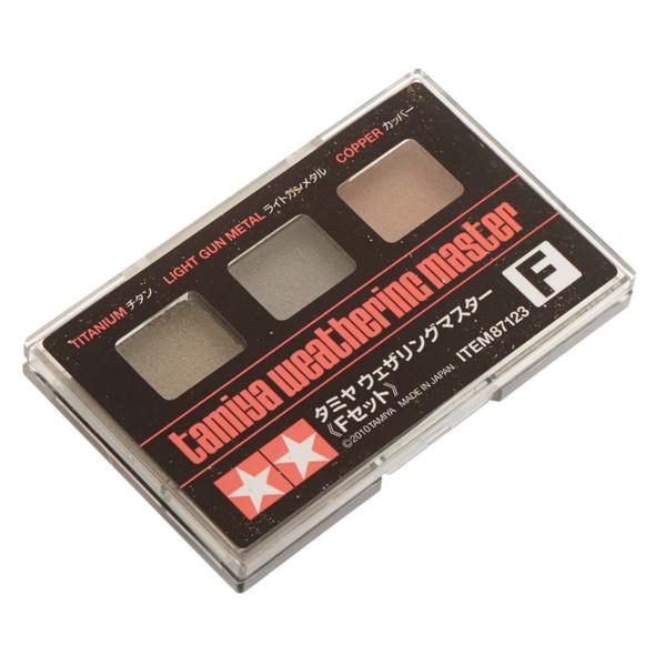 Tamiya 87123 Weathering Master F Set-Titan/Light Gun Metal/Copper