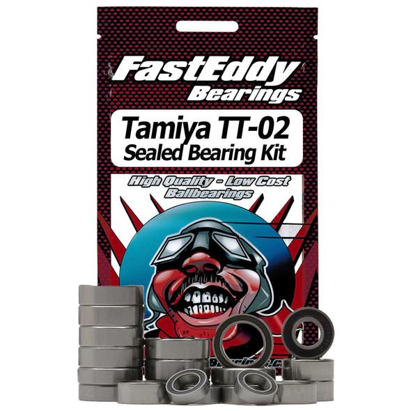 Fast Eddy Bearings TFE411 Tamiya TT-02 Chassis Rubber Sealed Bearing Kit